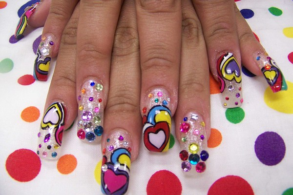 Day 244 psychedelic hearts nail art nails magazine teresa vigil artistic nails fontana california prinsesfo Choice Image
