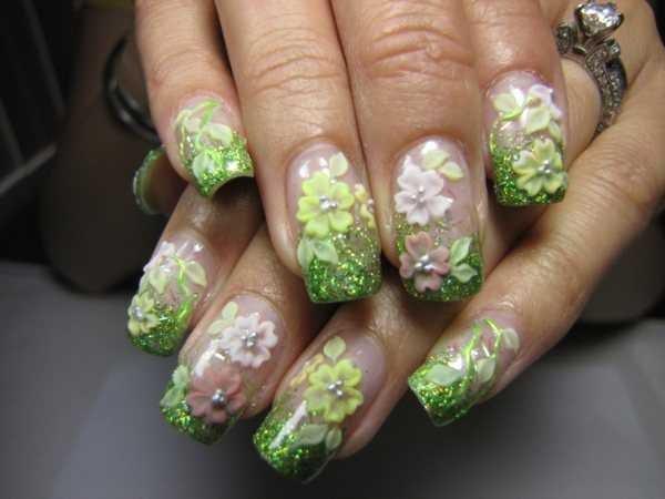Day 245 3 d acrylic flowers nail art nails magazine erica yuen noble nail art tucson az prinsesfo Image collections