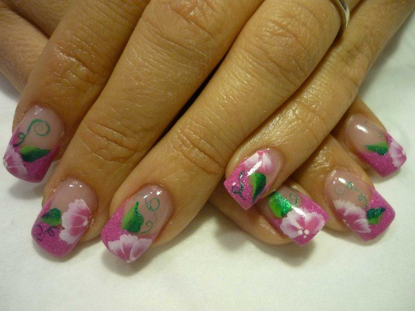 Day 268 Pretty In Pink Floral Nail Art Nails Magazine