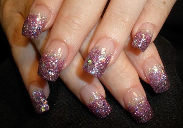Glitter Faded Nails Nail Art Glitter Fade