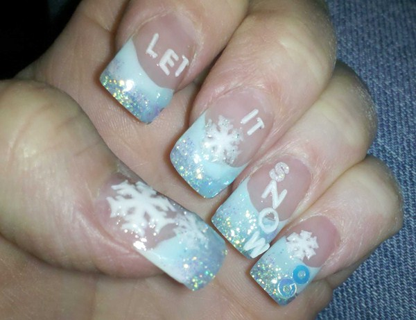 Day 364 let it snow nail art nails magazine cindy kunkel looks ahead hair salon middletown ohio prinsesfo Gallery