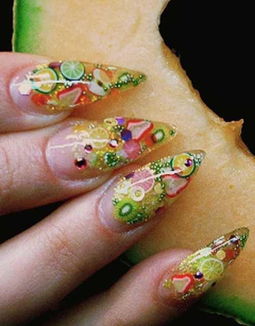 Day 56 Fruity Fimo Nail Art Nails Magazine