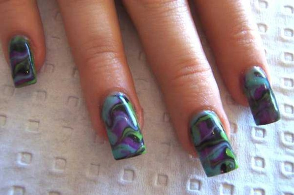Andrea Stacey, Cassims Hair Design (Queensland, Australia) - Day 65: Marble Swirl Nail Art - - NAILS Magazine