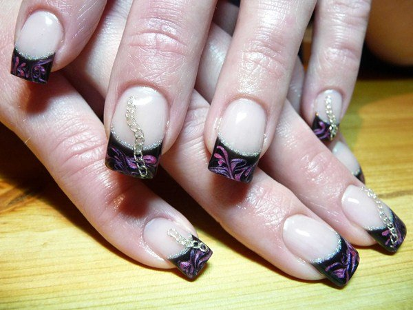 Day 66 Designer French Chain Nail Art Nails Magazine