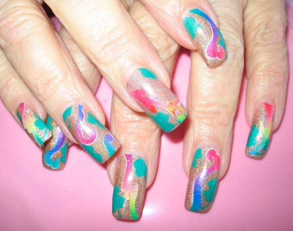 Day 90 Abstract Airbrush Nail Art Nails Magazine