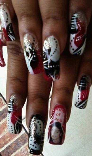 Nail art celebrates michael jackson nails magazine prinsesfo Gallery