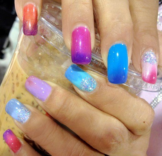 Lechat Educator Connie Le Shows Off Some Of The Colors In Action Her Nail Tips Are Colder So They Show Up Darker Or A Diffe Color