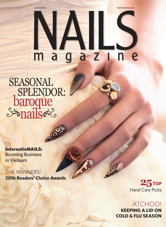 Book Cover Nail Art : Nails magazine december issue