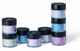 Young Nails' Metallic Pearl, Metallic Carmine, Metallic Violet, black and white acrylic paint