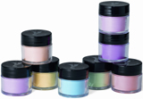 Young Nails' Tippy Cup Turquoise, Metallic Pearl, Mixer-Block Party Collection, Neon Green, Metallic Green, Neon Guava, black acrylic paint, Imagination Art Brush