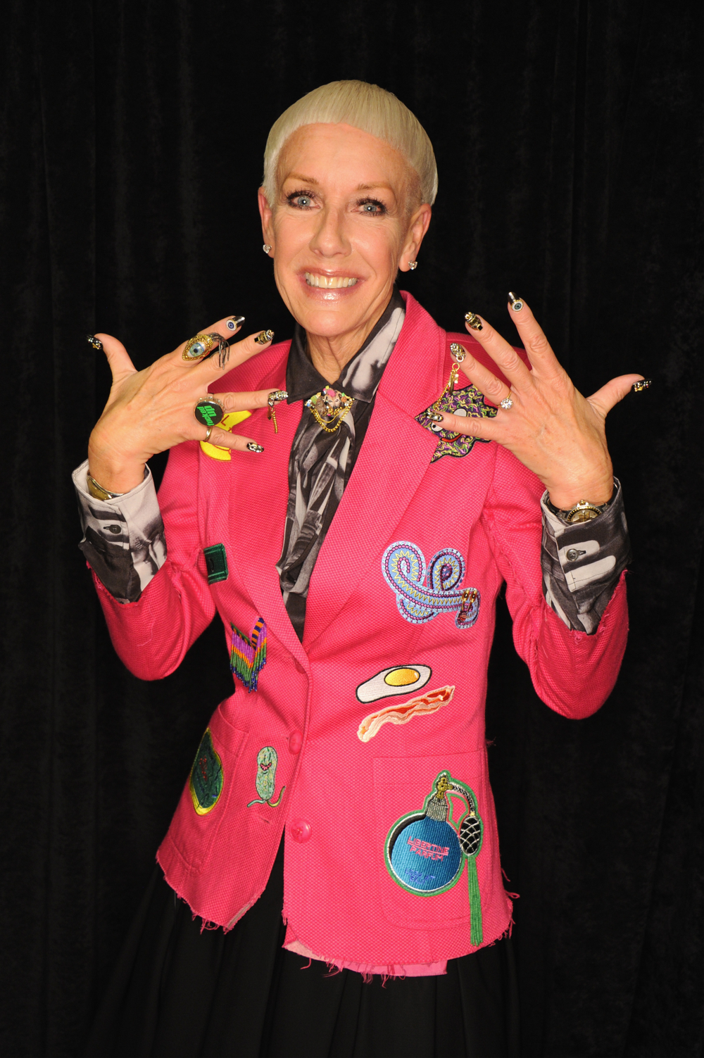 <p>CND style director and co-founder Jan Arnold flashing nails by Winnie Huang</p>