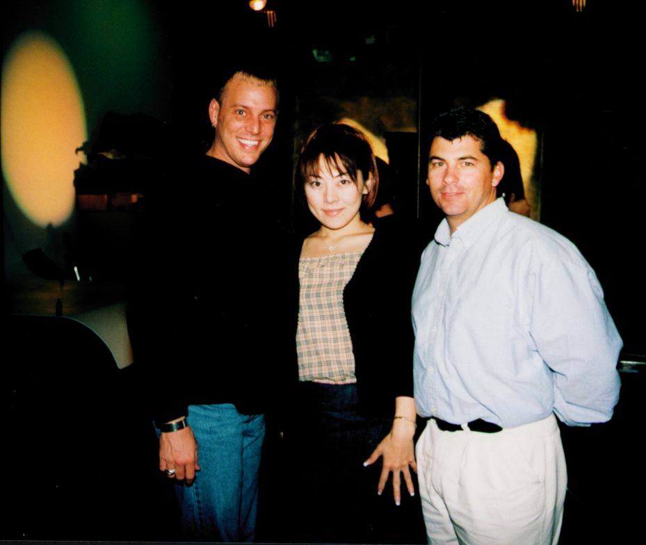 <p>Behind the scenes for the April 2000 cover shoot for NAILS Magazine, Tom joins Danny Haile (of EZ Flow, at the time) and Eriko Kurosaki.</p>