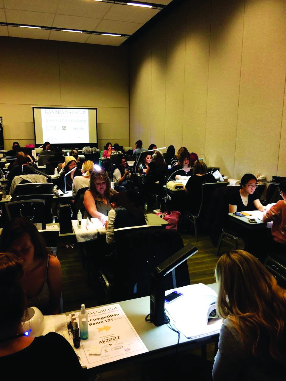 <p>The CND 20min Gel Polish Challenge is the most popular competition at the Canada Nail Cup.</p>