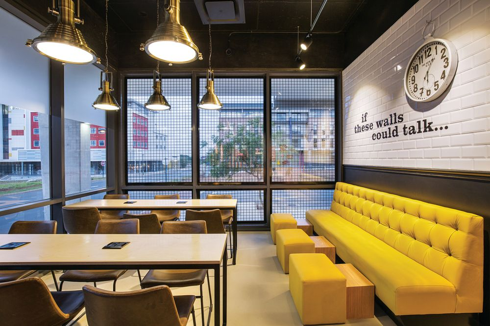 <p>The nail areas at Buff Beauty Parlor can accommodate large groups.</p>