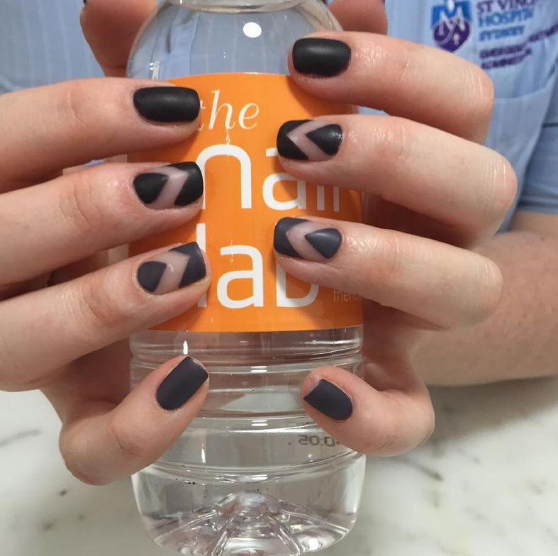 <p>Negative space nail art, like this design created at The Nail Lab, is a current trend in Australia.</p>