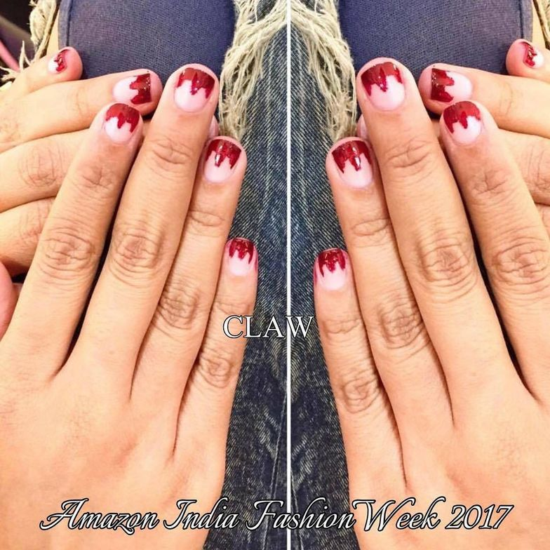 <p>Claw designed these nails for Amazon India Fashion Week 2017.</p>