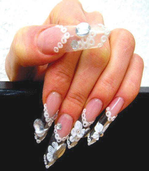 <p>Coffin-shaped nails are popular among the younger clientele of Nagelatelier Exquisit.</p>