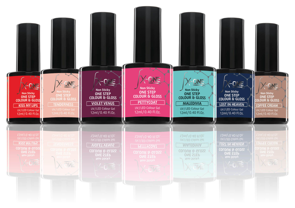 <p>FX-One is a new non-sticky one-step color and top coat by Alessandro International.</p>