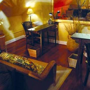 Bamboo Spa Salon in James Island, S.C. features golden yellow shades mixed with earth tones to...