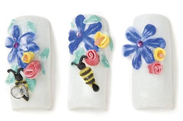 3-D Spring Nail Art