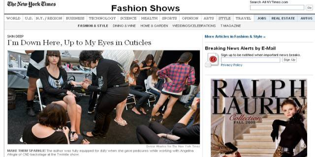 CND Gets Huge Coverage in New York Times for Fashion Work