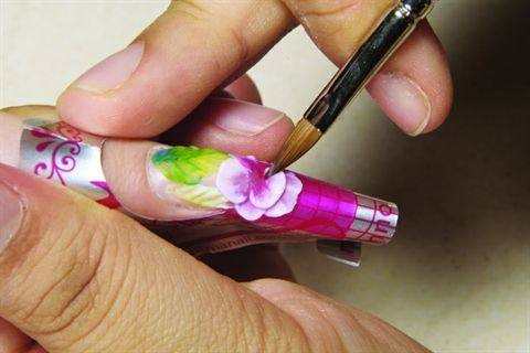 Charisma nail innovations floral acrylic design style nails charisma nail innovations floral acrylic design prinsesfo Gallery