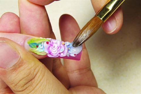 charisma nail innovation's floral acrylic design  style