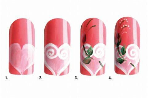 Nail Art Studio Valentines Day Pretty In Pink Style Nails Magazine