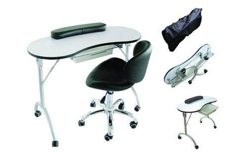 Grab and go furniture style nails magazine for Mobile manicure table
