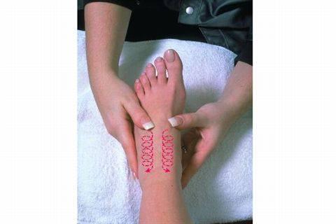 instep massage