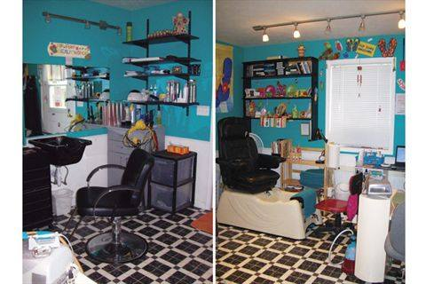 Home salons flip flop beauty shop business nails magazine - How to make a beauty salon at home ...
