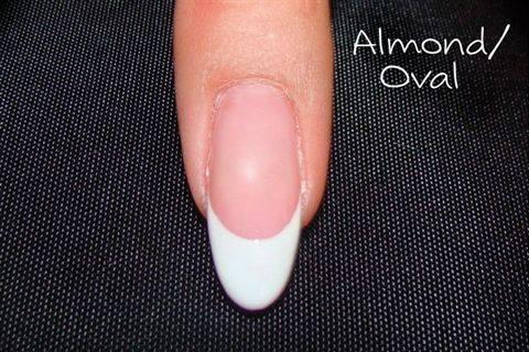 almond shaped french manicure joy studio design gallery
