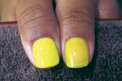 A Quick Tip From Celebrity Manicurist Kimmie Kyees Is To Ly Two Coats Of White Polish Over Natural Nails Before Lying Any Neon