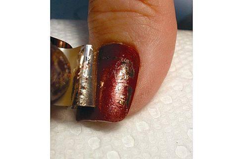 Kami nail art foil mixed metals style nails magazine kami nail art foil mixed metals prinsesfo Images