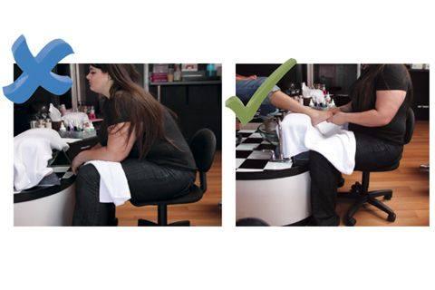 Pedicure Technician Stool Spa Pedicure Chair Stool