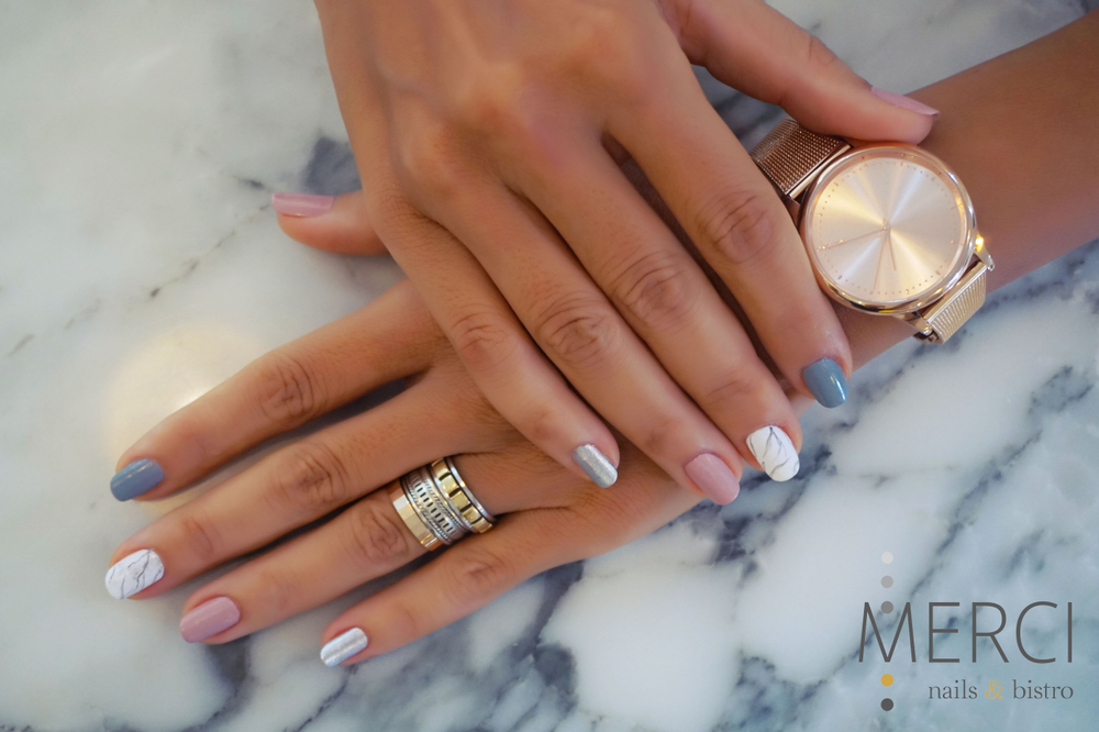 <p>Classic nail shapes, such as ovals and squares, are mainstays in Vietnam. (Nail art by Merci Nails &amp; Cafe)</p>
