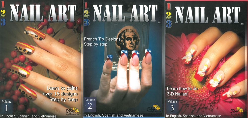 <p><em>1-2-3 Nail Art</em> series by Vu and Robert Nguyen</p> <p>Brothers Robert and Vu Nguyen are stars on the nail competition circuit, have done nails for numerous magazine covers, and taught nail workshops nationwide. The duo taps into their wealth of expertise in <em>1-2-3 Nail Art</em>, a series of nail art tutorial books that feature designs from beginner to advanced. Each step-by-step features instructions in English, Vietnamese, and Spanish.</p>