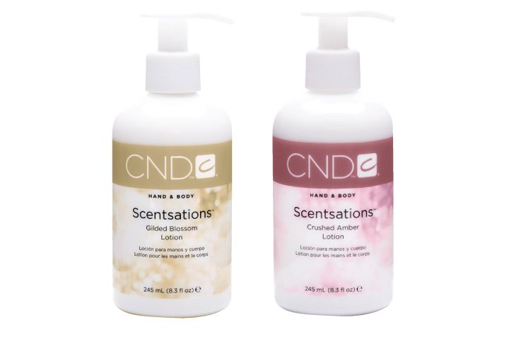 <p><strong>FAVORITE LOTION FOR HANDS AND BODY</strong><br />1. CND: Scentsations<br />2. OPI Products: Avojuice Skin Quenchers Lotion <br />3. Cuccio Natural&eacute;: Vanilla Bean &amp; Sugar Cane Lyte Ultra Sheer Body Butter<br />4. Young Nails: Lomasi Lotions<br />5. Body Drench: Mind + Body Body Lotion Collection</p>