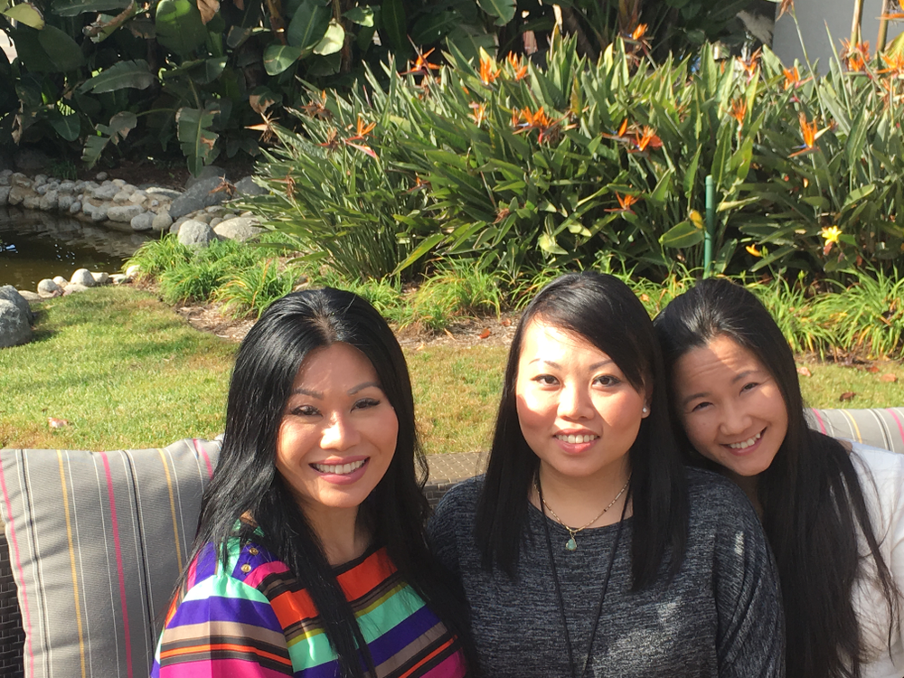 <p>June Rivera, ThaoLy Pham and Chloe Anh Tran enjoy the beautiful San Diego weather.</p>