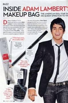 Adam Lambert S Makeup Bag Style Nails Magazine