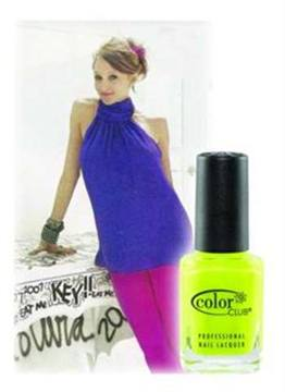 <p> </p><p>Designer Stacey Bendet revealed her favorite nail polish in the October issue of Vanity Fair My Stuff' section; Color Club's Neon Collection. She prefers colors 'Yell-oh' and 'Bizerk Turq' for herself and buys 'Pink Lust' and 'Orange Revenge' for her design team.</p>