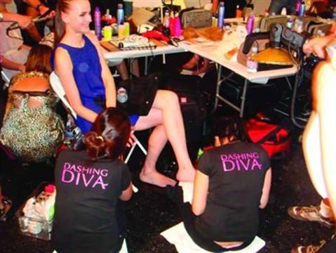 <p>Dashing Diva nail techs polished models backstage at several fashion shows this fall. </p>