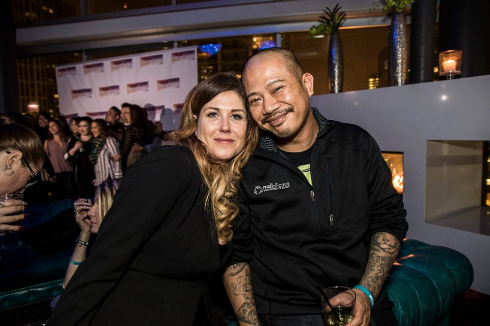 <p>NTNA Minxjudge Mirka Poikkeus and Vu Nguyen</p>