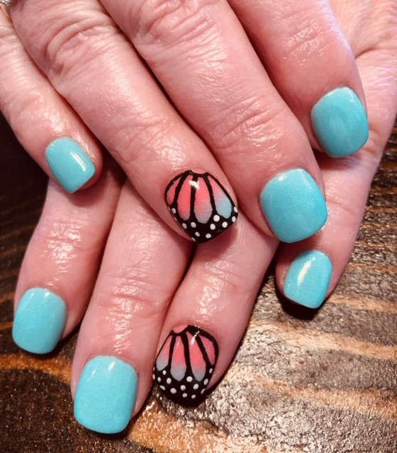 Day 107: Butterfly Wing Nail Art