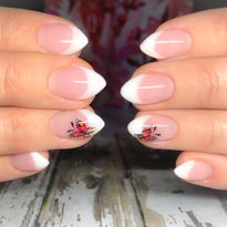 Day 115: Butterfly French Nail Art
