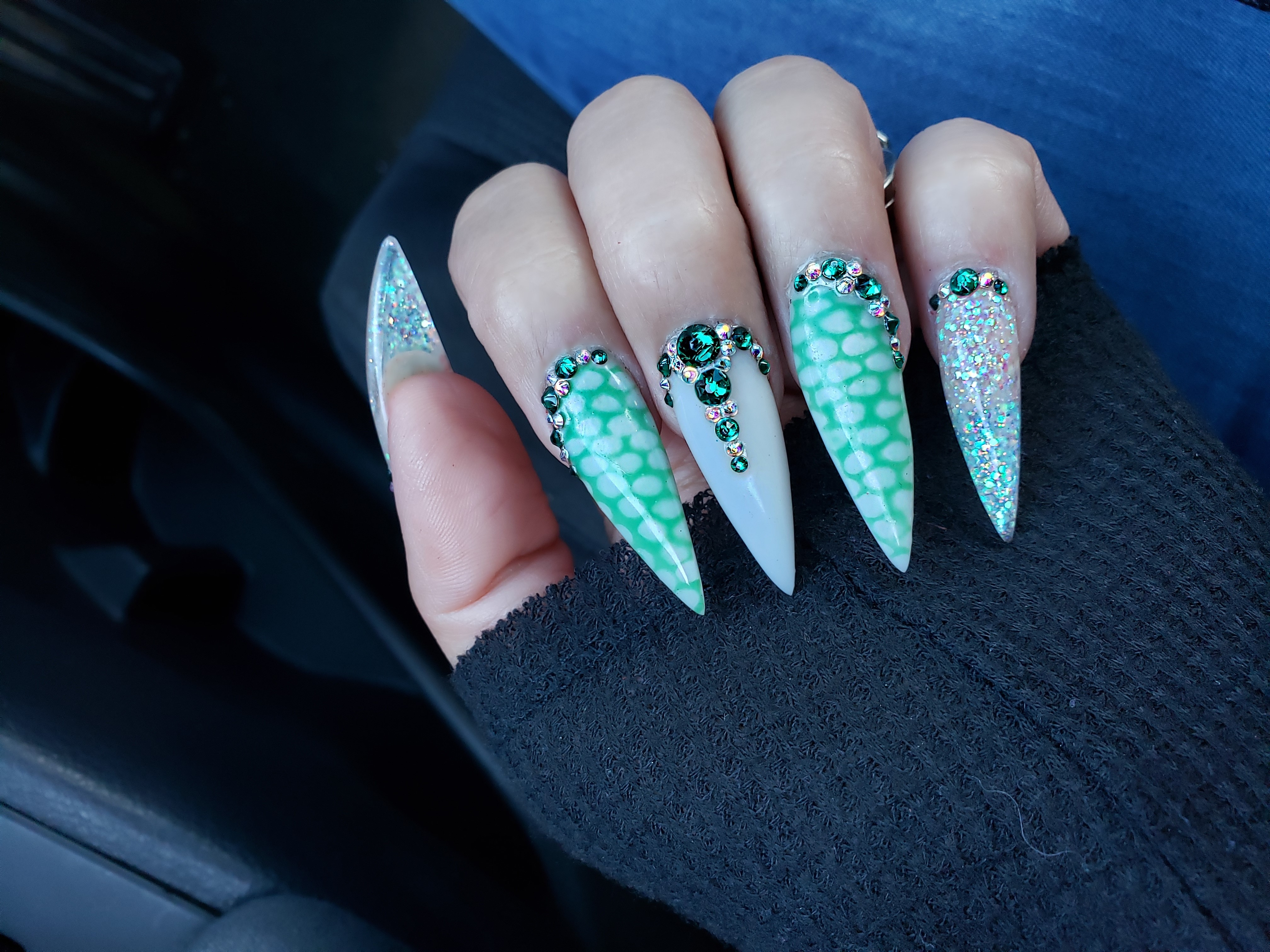 Day 120: Butterfly and Stiletto Nail Art