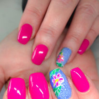 Day 161: Summer Flower and Butterfly Wing Nail Art