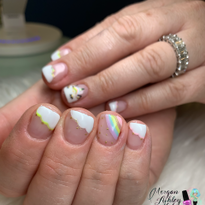 Day 171: Cloudy Rainbow and Abstract Nail Art