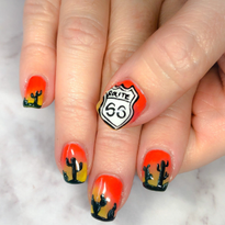 Day 180: Desert Road Trip Nail Art