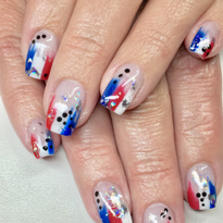 Day 185: Happy 4th of July Nail Art